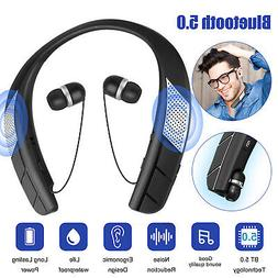 Bluetooth 5.0 Headset TWS Wireless Earphones Mini Stereo LED