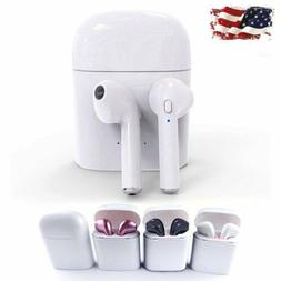 For Apple iPhone 7 6s 6 Bluetooth Wireless In Ear Earbuds He