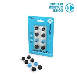 JLab Audio Cloud Foam Mnemonic Earbud Tips | 4 Pairs of Cust