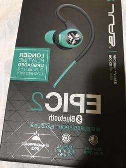 JLab Epic 2 Wireless Bluetooth Sports Earbuds | Bluetooth 4.