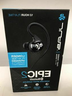 JLab Audio Epic2 Bluetooth 4.0 Wireless Sport Earbuds  New/S