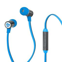 Jlab Bass Rugged DJ Inspired Earbuds Universal Mic Gray Blue