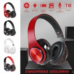 Foldable Wireless Bluetooth 5.0 Headphones Noise Cancelling