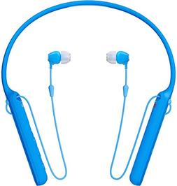 Sony - C400 Wireless Behind-Neck in Ear Headphone Blue