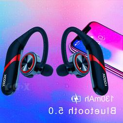 Ear Hook Bluetooth 5.0 Earphone Stereo Bass Headphone Wirele