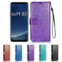Galaxy S8 Plus Case, HLCT PU Leather Case, With Soft TPU Pro