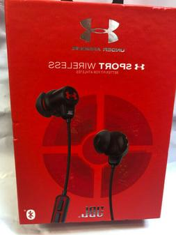 JBL Harman Under Armour SPORT Wireless Earbuds Black Tracks