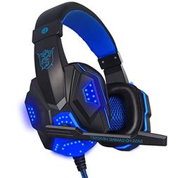 JP-DPP9 Stereo Gaming Headset for PS4 Xbox One, 3.5mm Bass O
