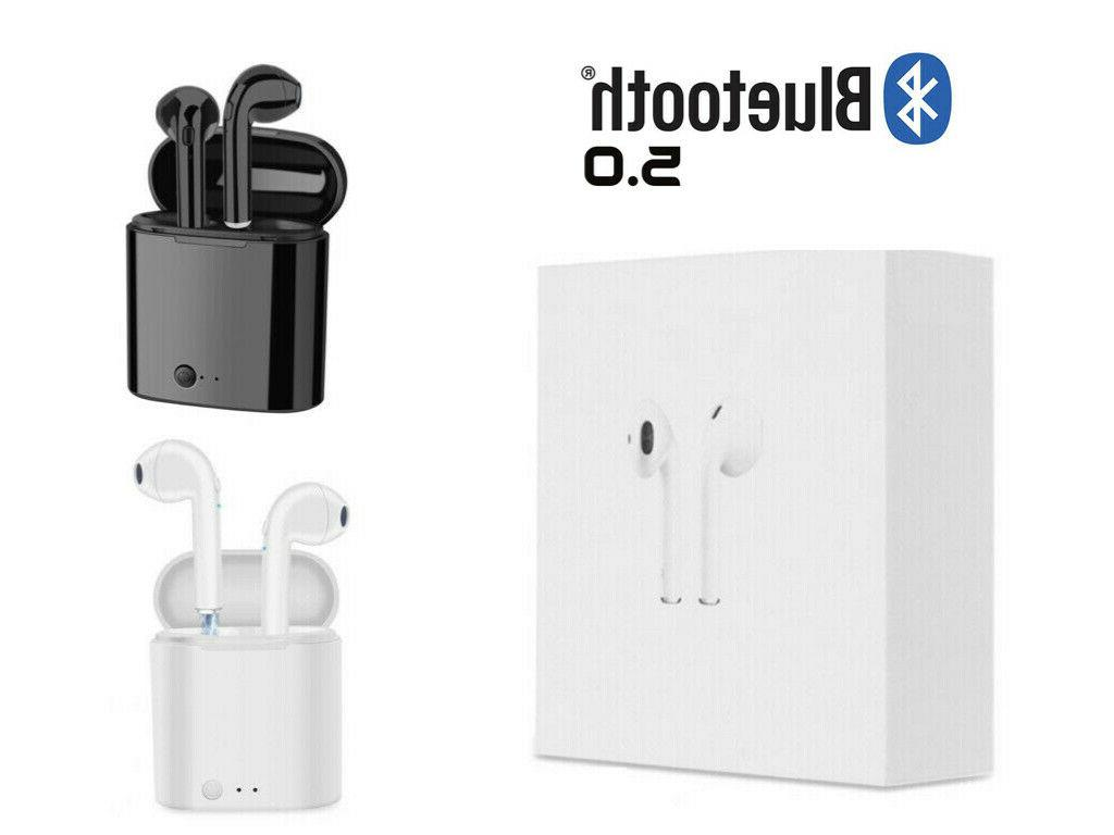1bluetooth earphones for iphone android samsung earpods