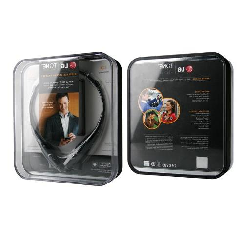 LG Tone Wireless Stereo Retail Packaging - Black/Orange