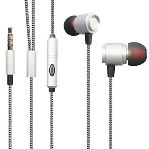 Premium Sound Quality Wired Headset Metal Earbuds Earphones