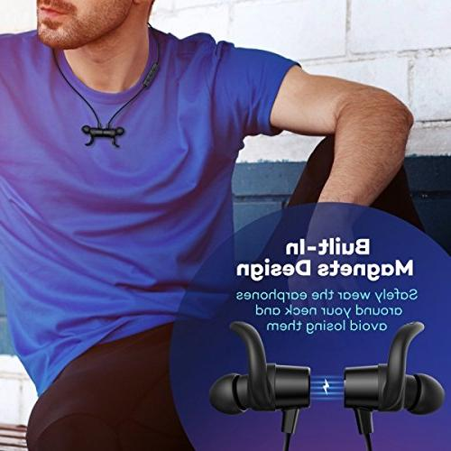 TaoTronics Headphones, Wireless Sports with Built in