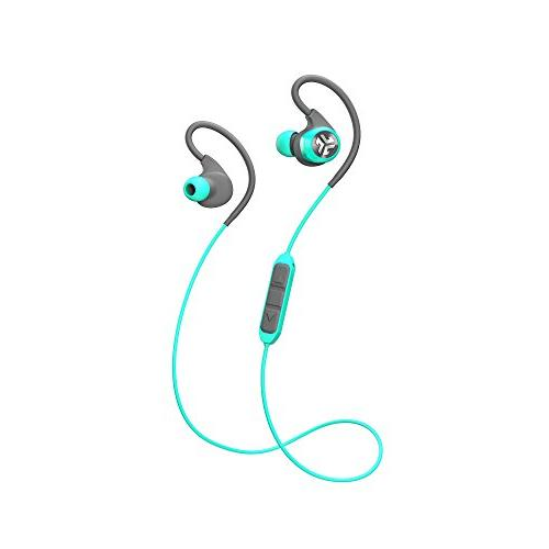 JLab Epic 2 Bluetooth Sports Earbuds Bluetooth 4.0 Hour Playtime Waterproof IP55 Rated | Microphone Included Drivers | Teal | Refurbished