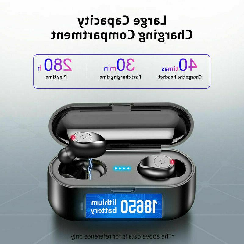 Bluetooth 5.0 Wireless Earphones Mini Stereo Buds Air BLK