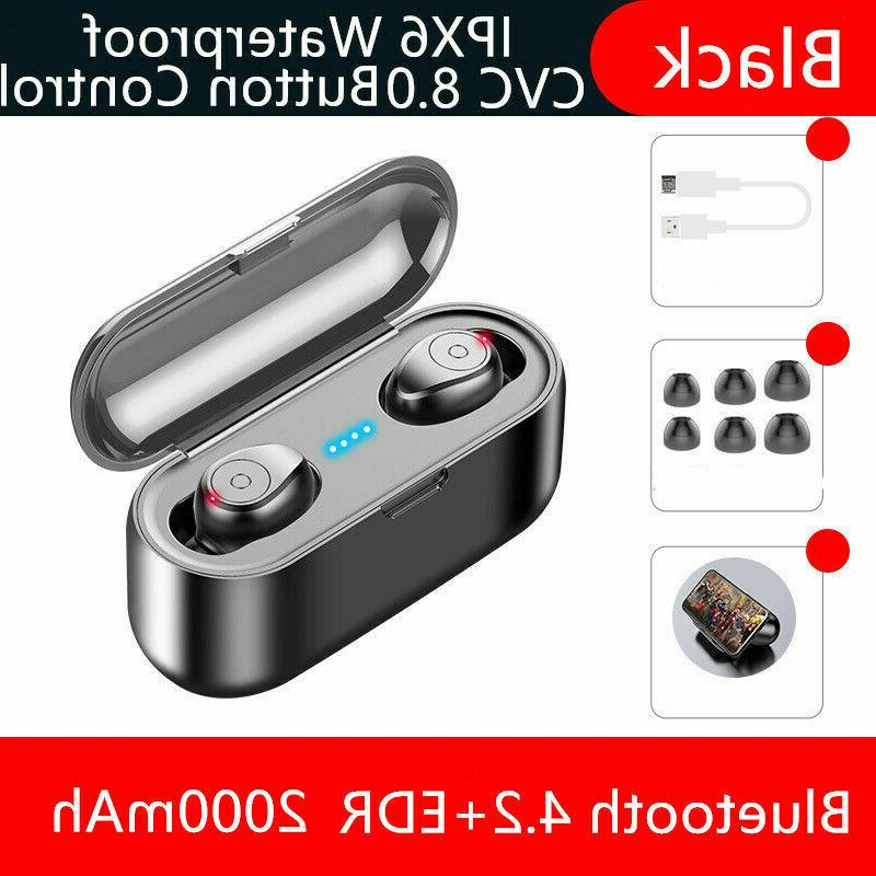 Bluetooth 5.0 Headset Wireless Earphones Mini Stereo Buds Air BLK