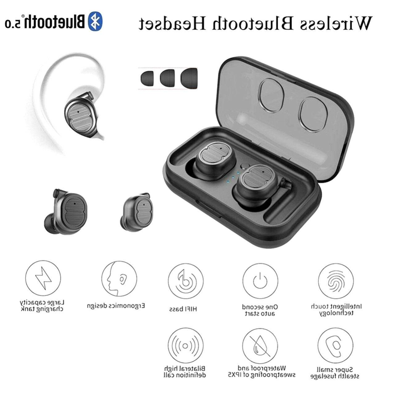 Wireless 5.0 Headphones Earbuds for Samsung Android