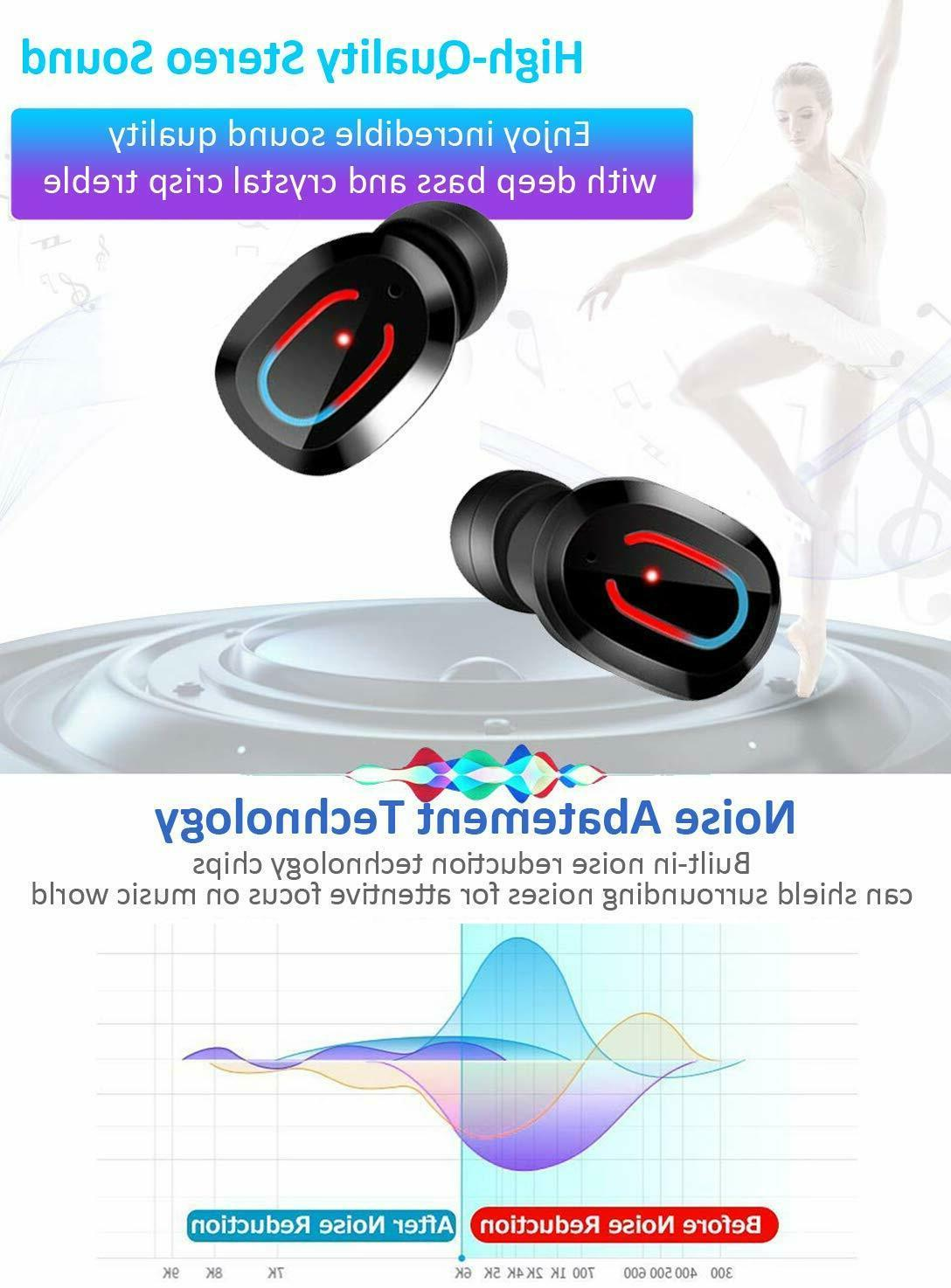 Bluetooth True Wireless Touch Mini Earbuds Headphones Headset