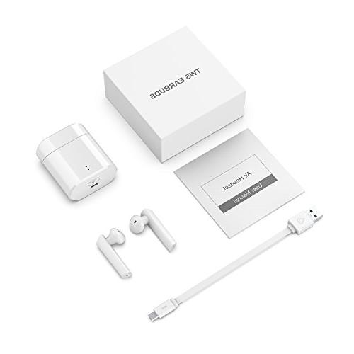 Bluetooth 5.0 Wireless Earbuds,True Wireless Headphones 24 Hour Playtime Deep Bass HiFi Stereo Sound, Built-in Earphones with for iPhone and Android