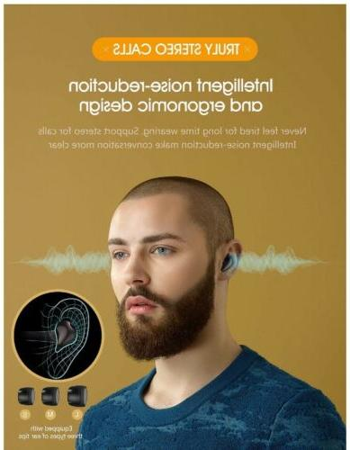 Bluetooth Earbuds,FOCUSPOWER-F16 5.0 Wireless Earbuds with SEALED