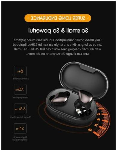 Bluetooth Earbuds,FOCUSPOWER-F16 Wireless Earbuds SEALED