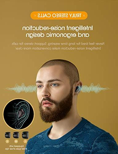Bluetooth True Charging 3D Stereo Audio in-Ear Built-in Mic