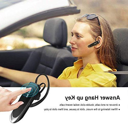 Bluetooth Earpiece Wireless Handsfree Headset New 24 60 With Noise Cancelling Mic Headset Case for Android Samsung Driver