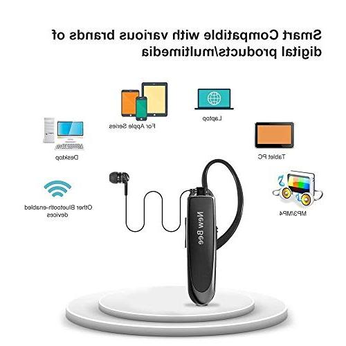 Bluetooth Earpiece Wireless Headset New Bee 2Packs 24 Hrs 60 Days With Noise Android Samsung Driver