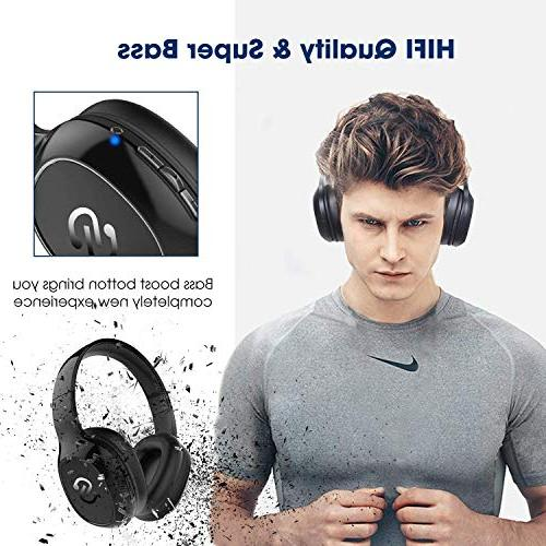 SoundPEATS Over-Ear Headphone, Deep Stereo Bluetooth Built-in Mic, 20 Hours Back up 3.5mm Cable, Noise and
