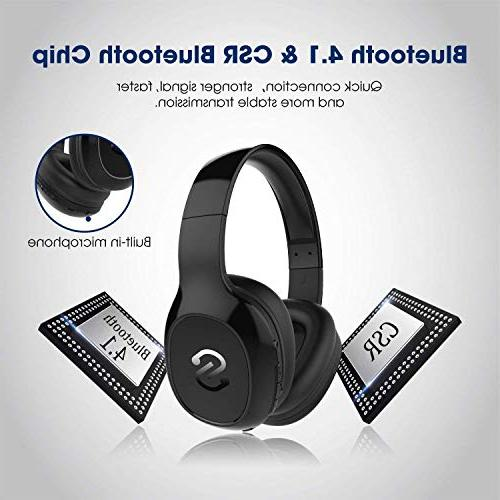 SoundPEATS Headset, Headphone, Stereo Bluetooth Built-in Mic, 20 Back up Cable, Noise Reduction,