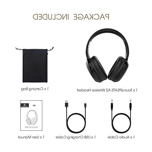 SoundPEATS Headset, Headphone, HiFi Deep Bass Stereo Headset, Mic, Back Cable, and Headphone-A2
