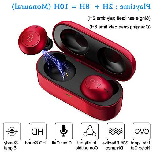 Bluetooth Wireless Mini in Ear Earphones Stereo and in for and Most Phones