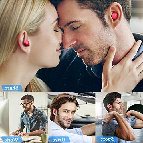 Wireless Earbuds Deep Bass Mini in Earphones HD Stereo Headset with for iPad and Most