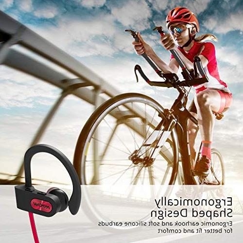 Mpow Flame Bluetooth Waterproof Wireless Earbuds Sport, Richer Bass HiFi Stereo in-Ear Case, Hrs Playback Noise Headsets