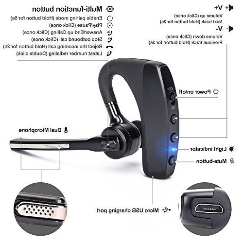 Bluetooth Hands-free Earpiece for Microphones Business/Driving/Office, with