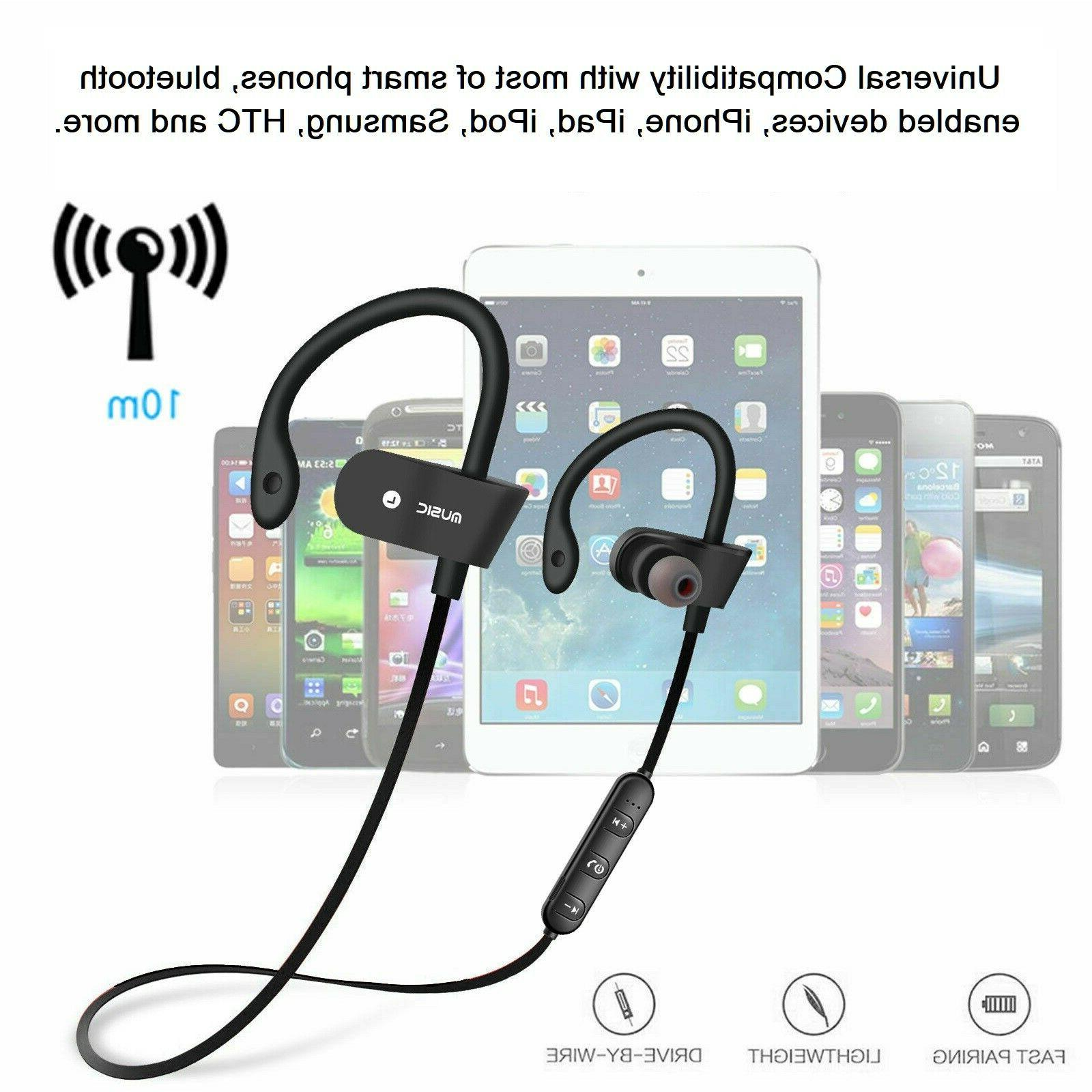Bluetooth Wireless Earbuds Earphone Stereo With Mic USA