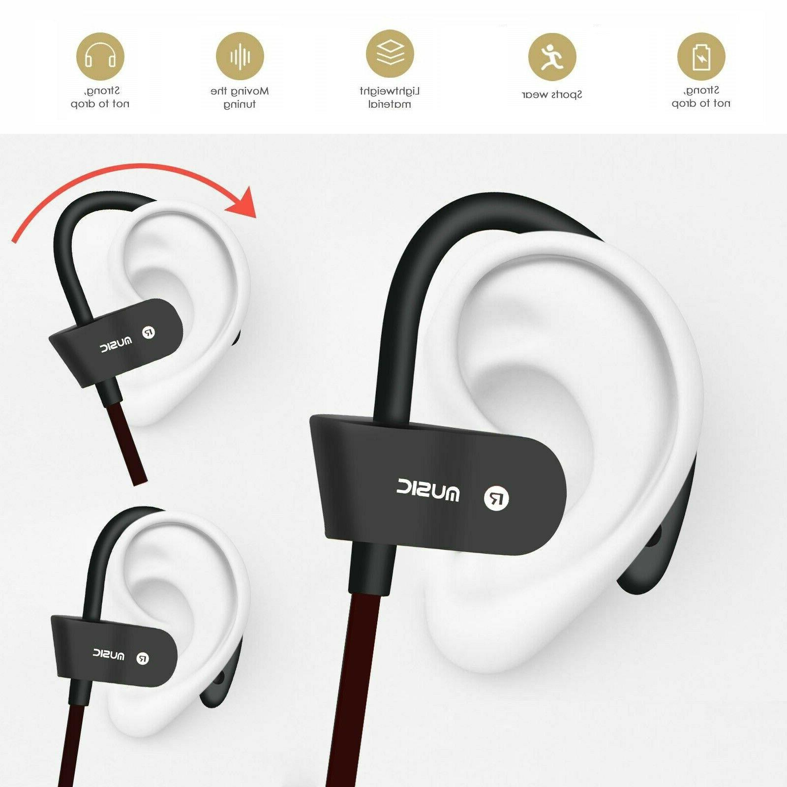 Bluetooth Headset Headphones Earbuds With