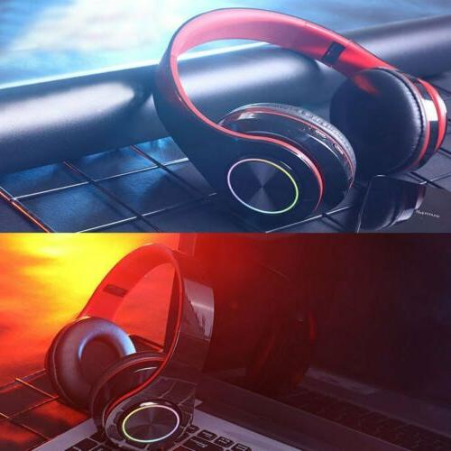 Bluetooth Over Ear Earphones Wireless Headset