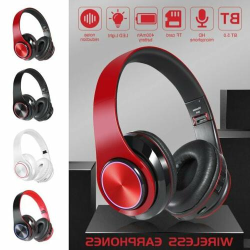 bluetooth noise cancelling headphones over ear stereo