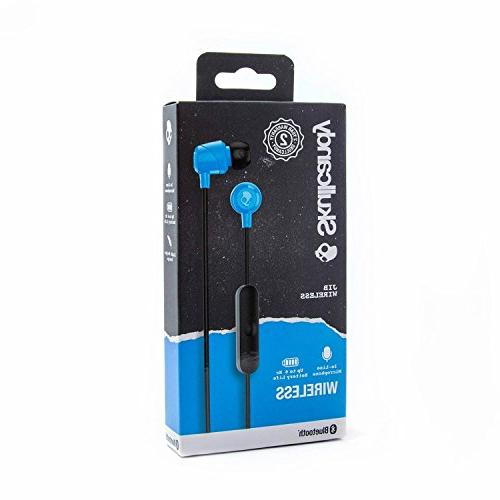 Skullcandy Jib Bluetooth In-Ear Earbuds with for Calls, Rechargeable Gels Isolation, Blue