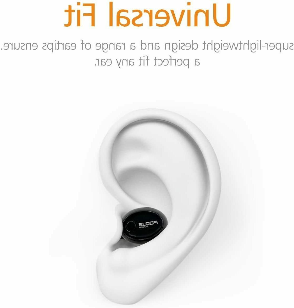 FOCUSPOWER Bluetooth Single Earbud Smallest Invisible Headphon