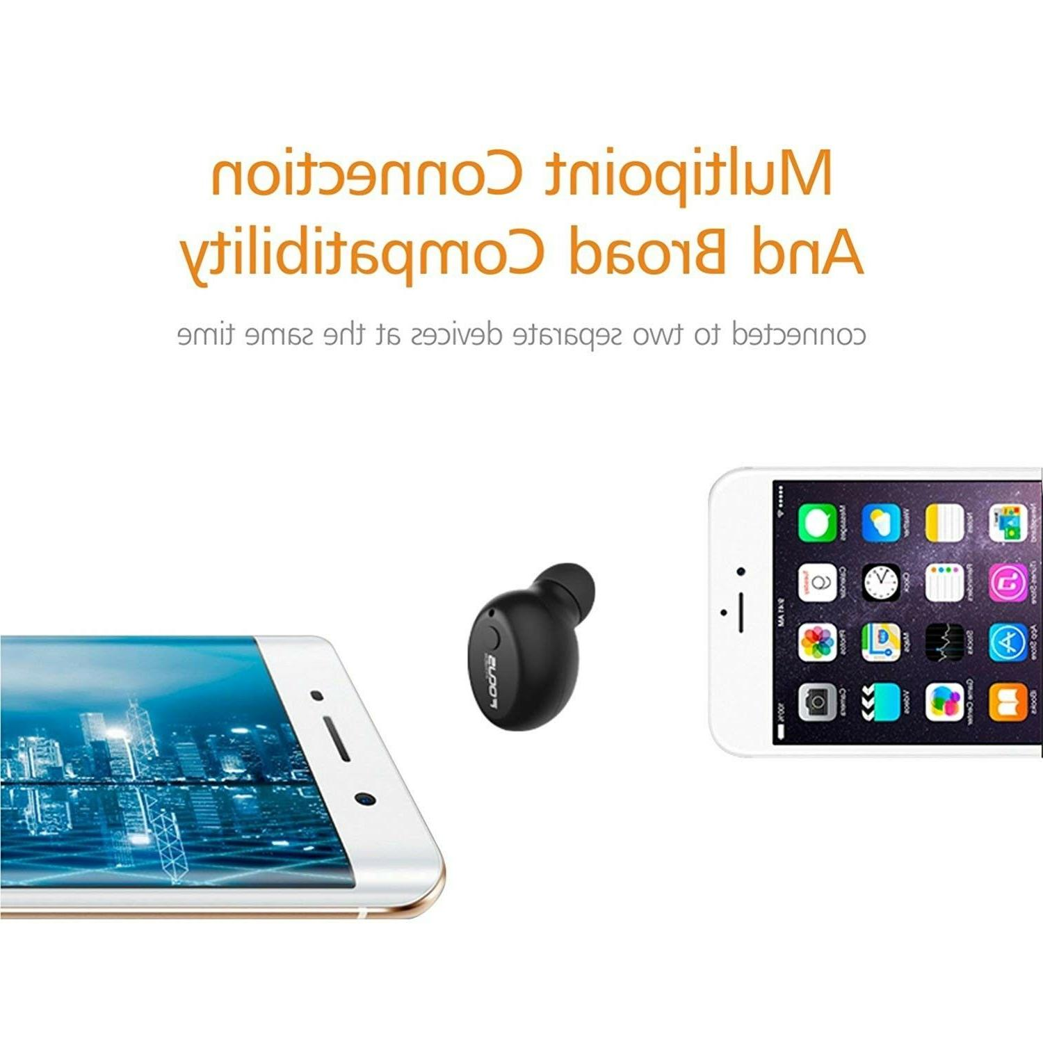 FOCUSPOWER Bluetooth Earbud Smallest Headphone with