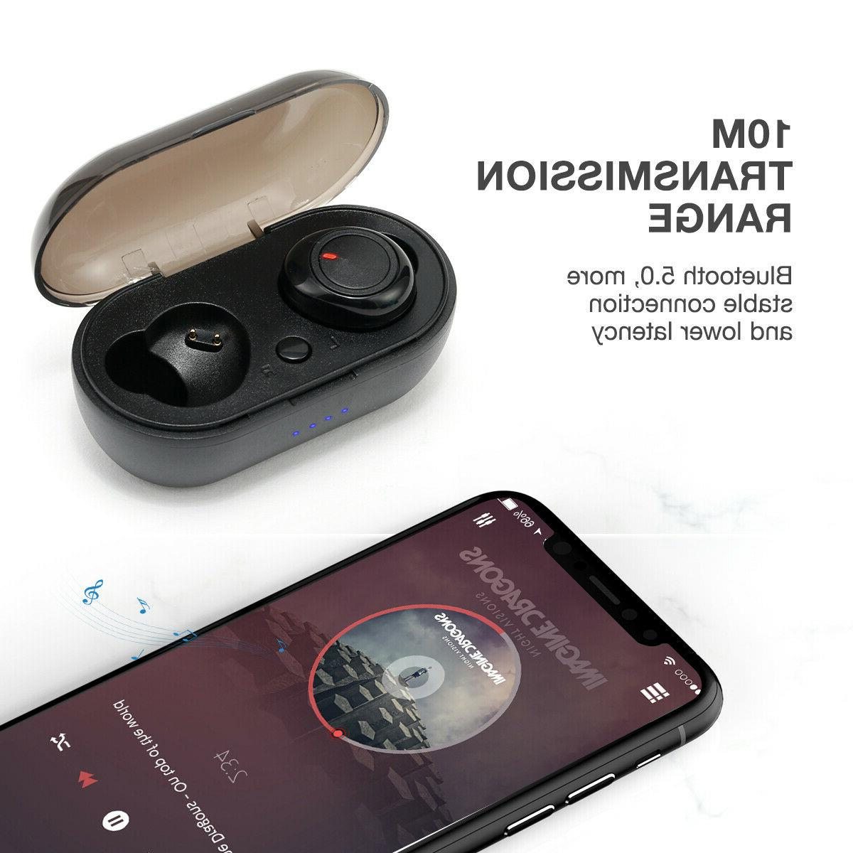 Wireless Bluetooth 5.0 Earbuds Apple iPhone IOS Android