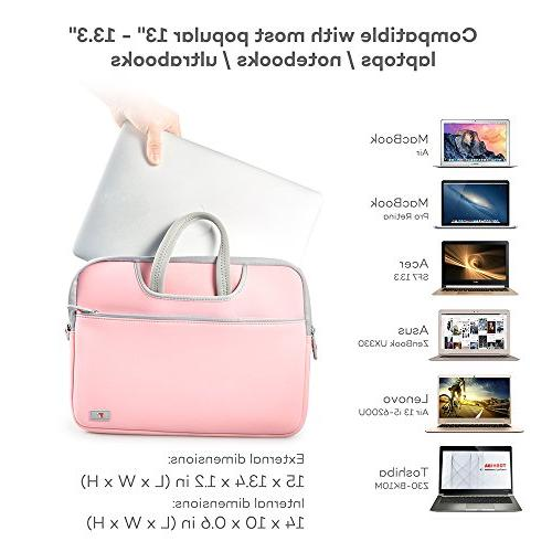 "TaoTronics Cover Bag 13"" MacBook Air Notebooks, Ultrabooks Zipper, EVA Inner"