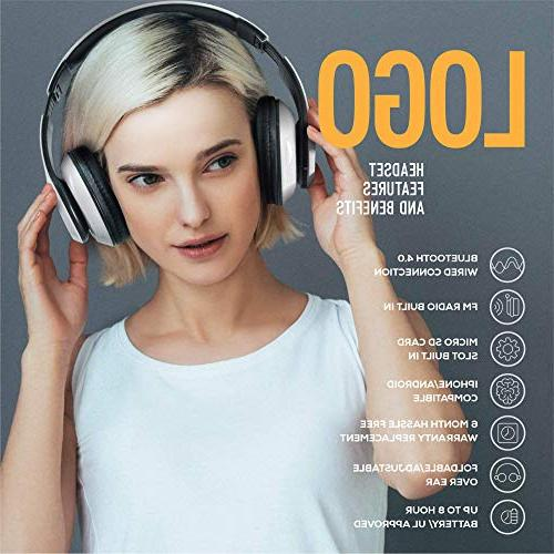 iJoy Rechargeable Wireless Over Ear Headphones Headset