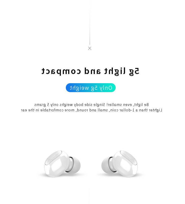 Mini Wireless Bluetooth Earbuds With Twins Stereo Earphones