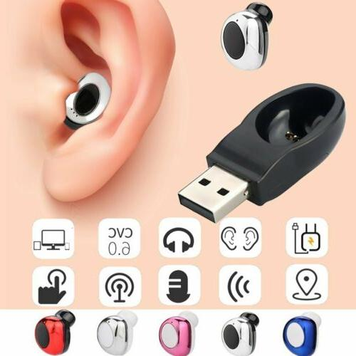 mini wireless bluetooth earbuds headset stereo in