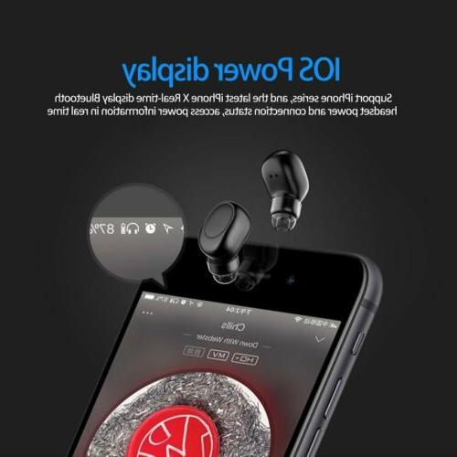 Single Ear Bluetooth Headset in-ear Invisible Headphone...