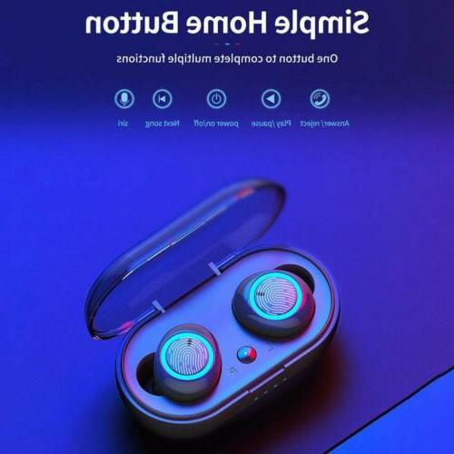 W12 Bluetooth 5.0 Mini Headset TWS Wireless Earphones Earbud