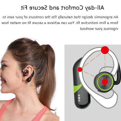 Ear Hook Bluetooth Earphone Stereo Headphone Wireless Mic
