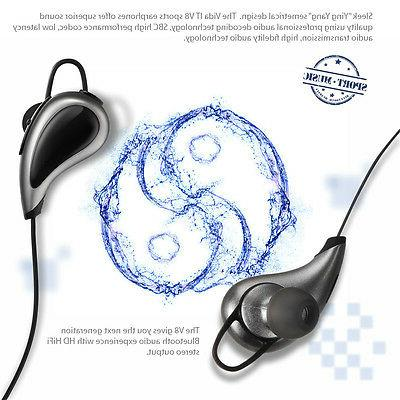Wireless Bluetooth Headset In Ear Earbud For Cell Phone Gym